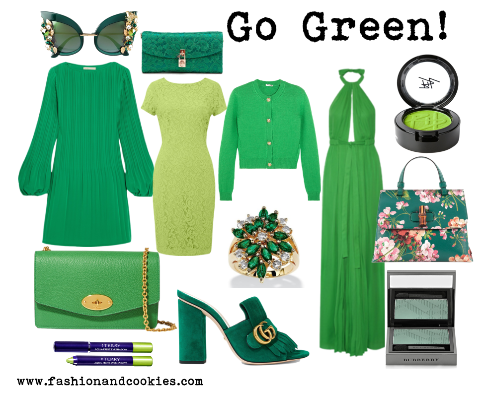 Greenery, army green and emerald green shades on Fashion and Cookies fashion blog, fashion blogger