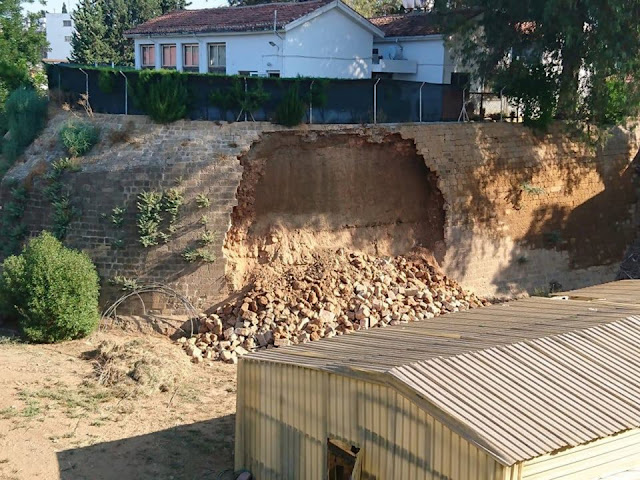 Section of the Venetian Walls of Nicosia collapses