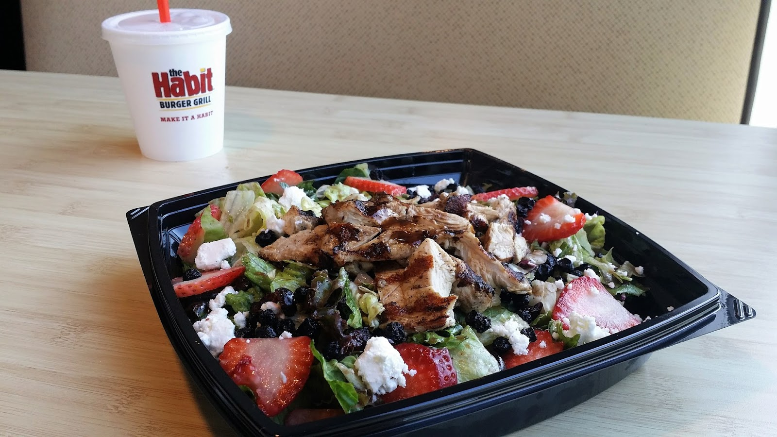New Strawberry Balsamic Chicken Salad From The Habit Burger Grill