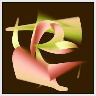 Strange shapes made with sine curve.