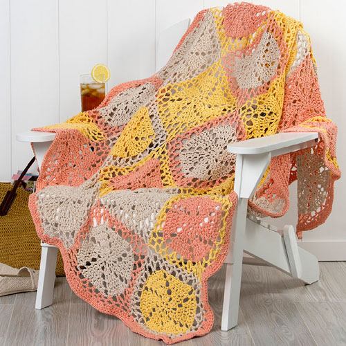 Twirling Garden Throw - Free Pattern