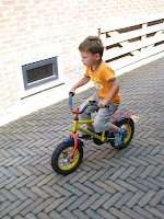 A child on a bicycle