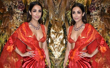 Malaika Arora At Armaan Jain And Anissa Malhotra Wedding Reception In Mumbai Event Photos