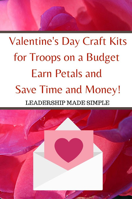 Valentine's Day Craft Kits for Troops on a Budget