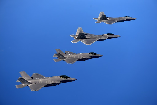 USAF deploy stealth fighters Europe