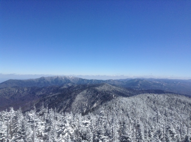 View from the top of Clingman's Dome