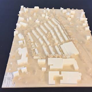 Modell für Wohnbebauung am Ammersee