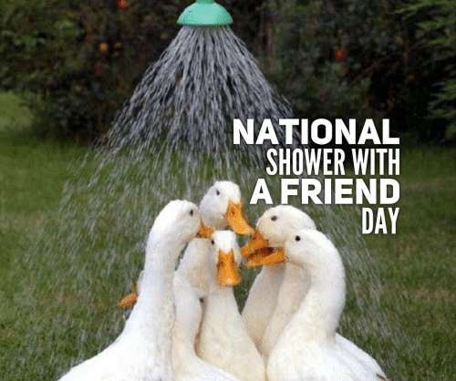 National Shower with a Friend Day Wishes Images download