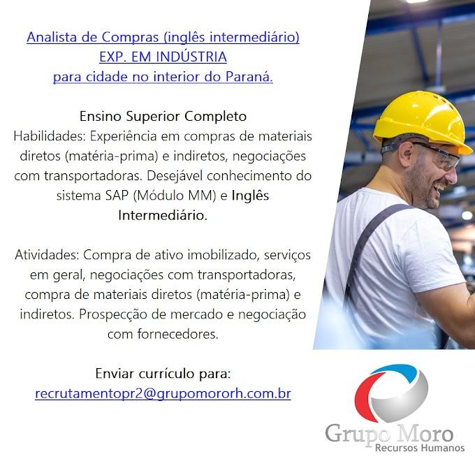 Analista de Compras, Interior do Paraná.