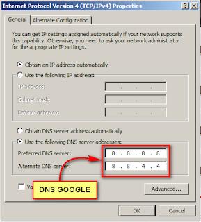 Setting DNS Google