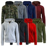 Mens Fleece Hoodie Jacket Sweater For Layering Warm Lounge Full Zip Up