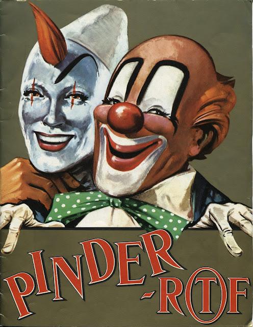 Programme papier du cirque Pinder 1969
