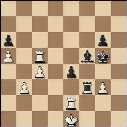 Partida de ajedrez Medina - Alekhine, posición después de 55.Re1