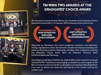 Congratulations! TM Wins Two Awards at the Graduates' Choice Award