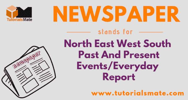 NEWSPAPER Full Form
