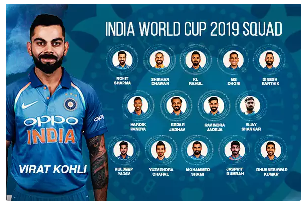India's World Cup squad in included Karthik, Vijay Shankar
