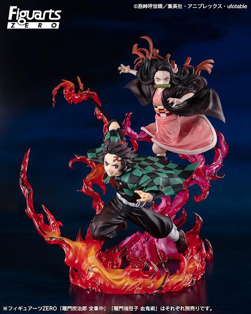 Figuarts ZERO Tanjiro Kamado -Zenshuuchuu- y Nezuko Kamado -Kekkijutsu- de Kimetsu No Yaiba, Tamashii Nations