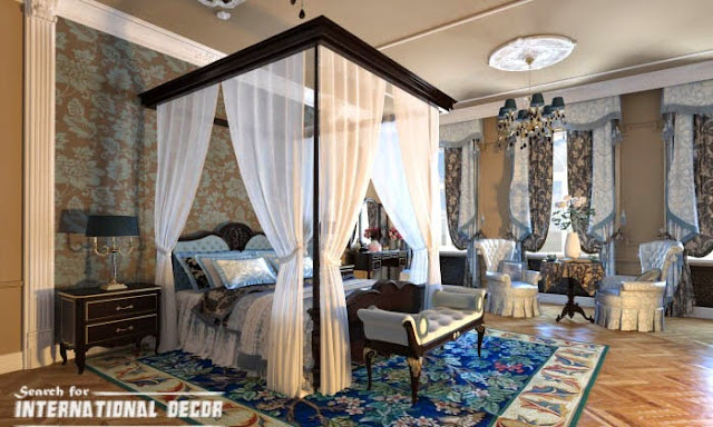 Classic Bedroom Interior Design Curtains