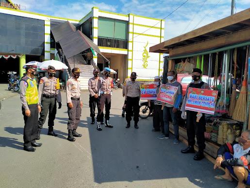 Patroli KRYD Polres Barsel Gekar Pendisiplinan Protkes di Pasar