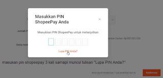 Cara Mengubah PIN Shopeepay