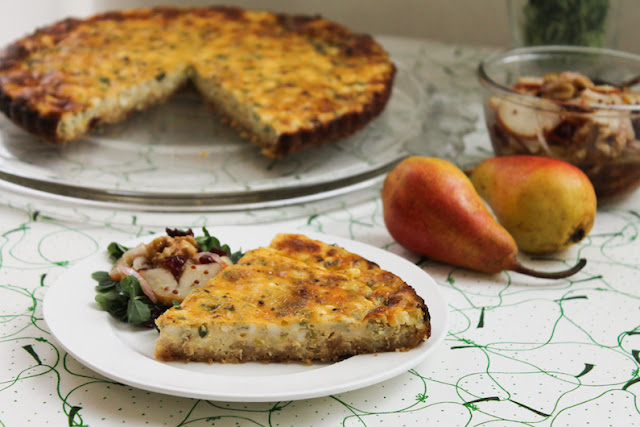 Food Lust People Love: This crunchy potato chip crust savory cheesecake makes a great main course for Sunday brunch or a light dinner.  It's also pretty fabulous cold in a packed lunch the next day, if you are lucky enough to have leftovers.