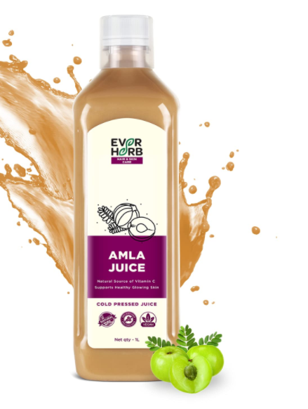 EverHerb Amla Juice 1 L   Rich In Vitamin C   Natural Immunity & Digestion Booster   No Added Sugar