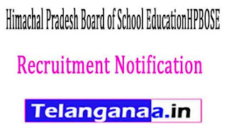 Himachal Pradesh Board of School EducationHPBOSE Recruitment Notification 2017