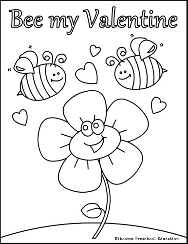 valentines day preschool coloring pages free | Be My Valentines Coloring Pages