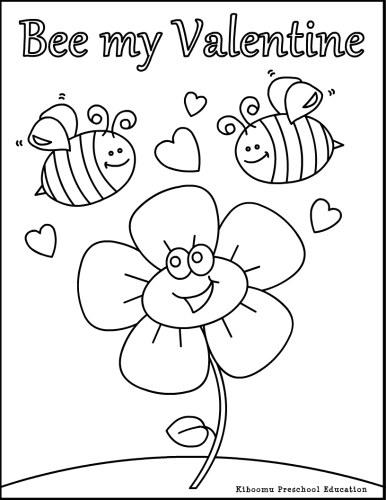 printable valentine coloring pages preschool - photo#36