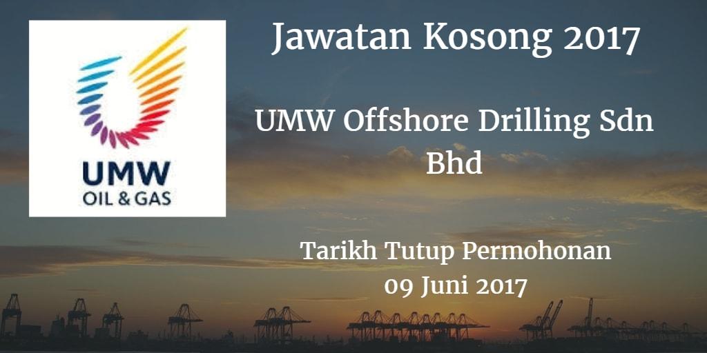 Jawatan Kosong UMW Offshore Drilling Sdn Bhd 09 Juni 2017