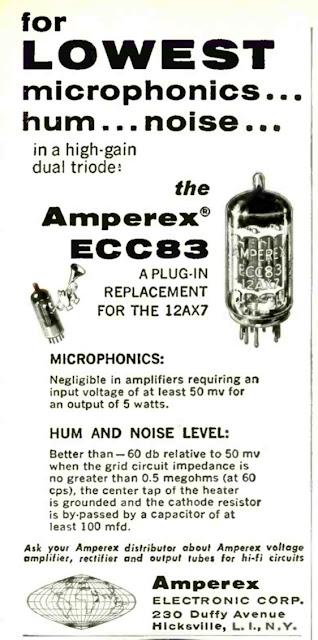 Amperex ECC83 Advert