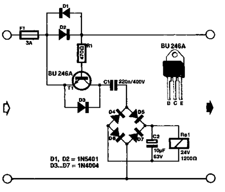 Monitor and Protection Alarm Over Current Circuit Diagram