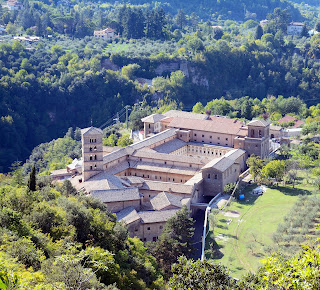 The abbey of Santa Scolastica near Subiaco, Lazio, home town of actress Gina Lollobrigida