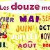 الأشهر السنوية باللغة الفرنسية مترجمة للعربية مع كيفية النطق Les douze mois de l'année