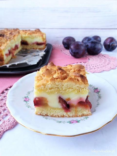 Ciasto ze śliwkami i budyniem / Plum and Pudding Shortcake