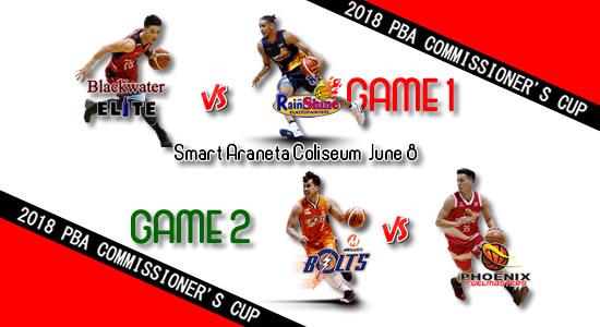 List of PBA Games: June 8 at Smart Araneta Coliseum 2018 PBA Commissioner's Cup