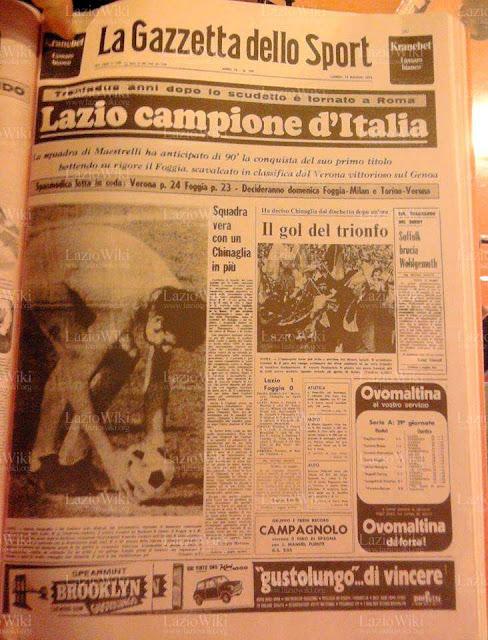 Gazzetta dello Sport Lazio 1974