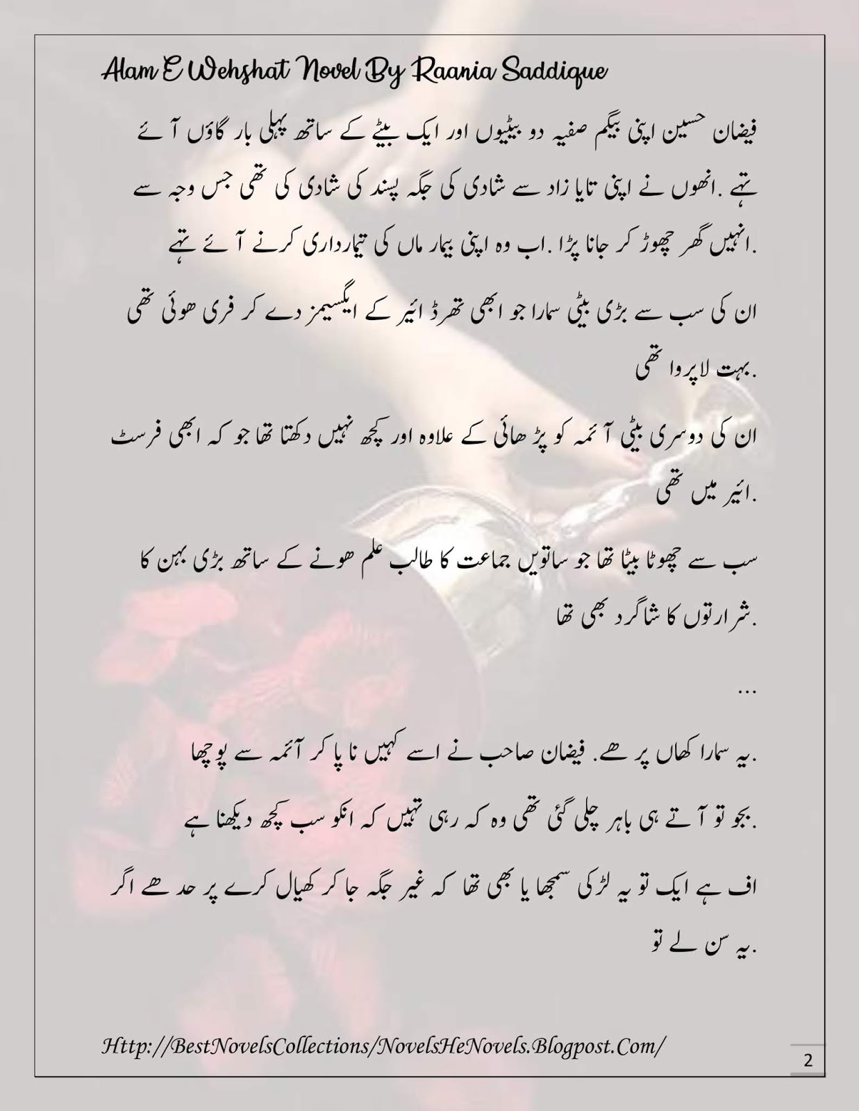 Alam E Wehshat by Raania Saddique Rude And Cruel Hero Novel