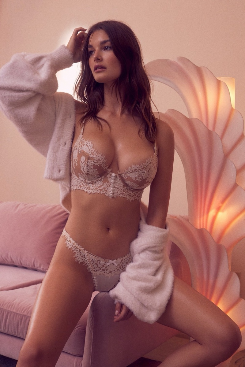 For Love & Lemons x Victoria's Secret Holiday 2019 Campaign