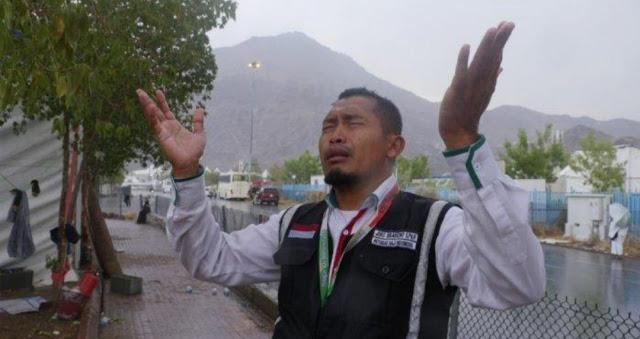 Fenomena Langka Terjadi di Puncak Ibadah Haji 2019; Hujan Deras Guyur Jamaah Haji saat Wukuf di Padang Arafah