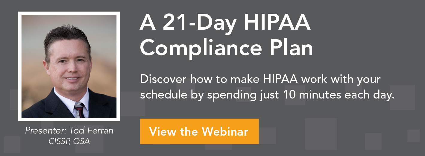21 Day Plan for HIPAA Compliance