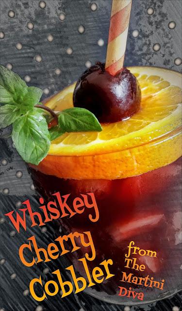Whiskey Cherry Cobbler Smash Cocktail