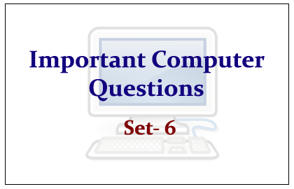 List of Important Computer Questions