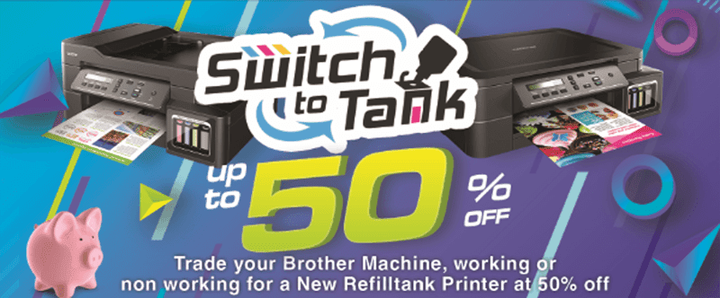 Brother Philippines Switch to Tank Promo returns, lets you trade old printers for a huge discount