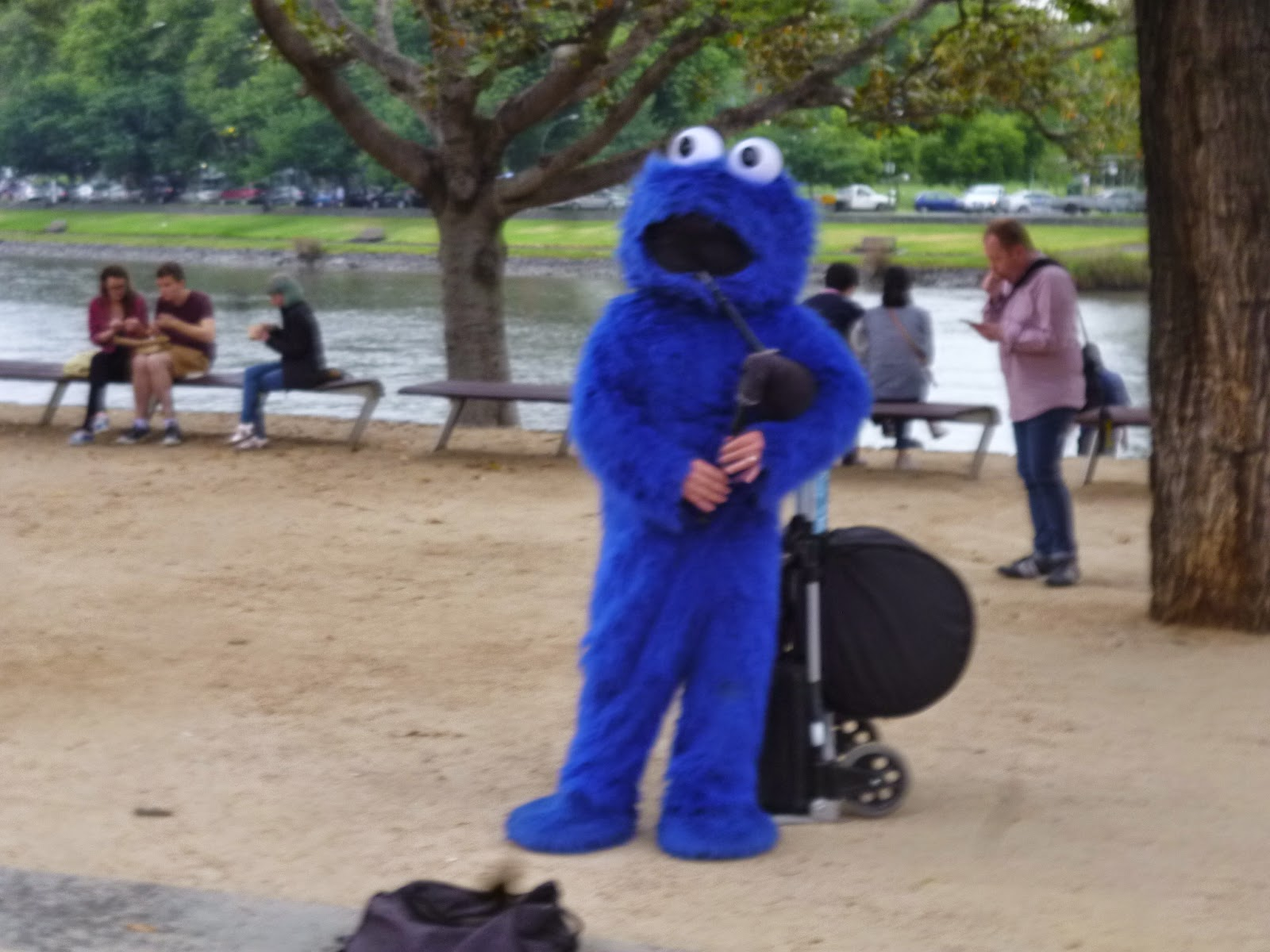 Bag Pipe Cookie Monster
