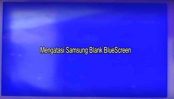 Layar LCD Biru