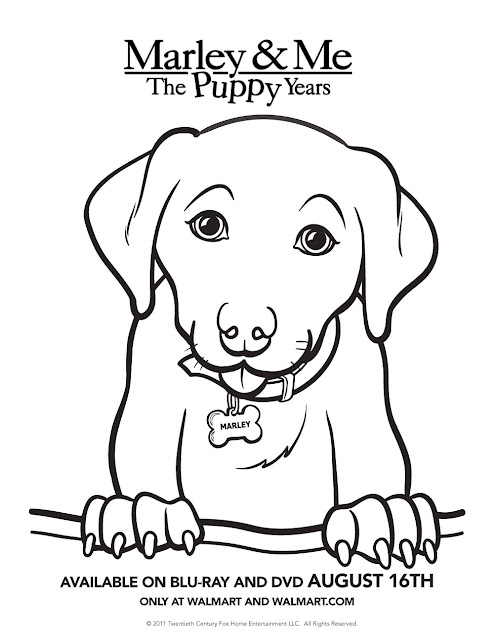 year of the dog coloring pages - marley me the puppy years printable activity sheets