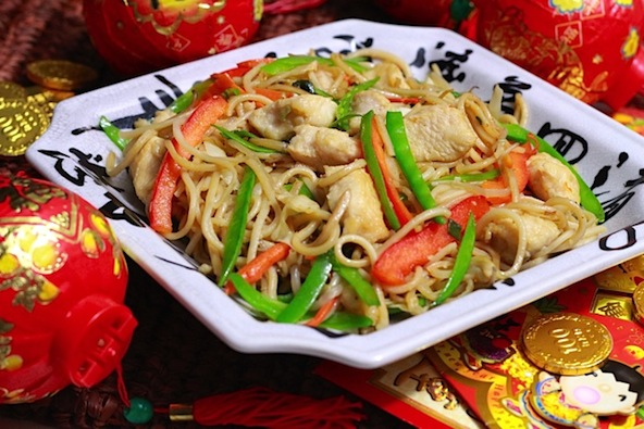 Longevity Noodles, (长寿面, Cháng shòu miàn) are often served during birthday celebrations and during Lunar New Year