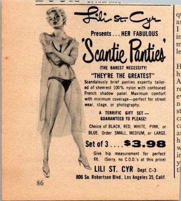 Lili St Cyr - Scantie Panties