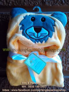 Selimut Bayi Lucu Bertopi Tiger Yellow
